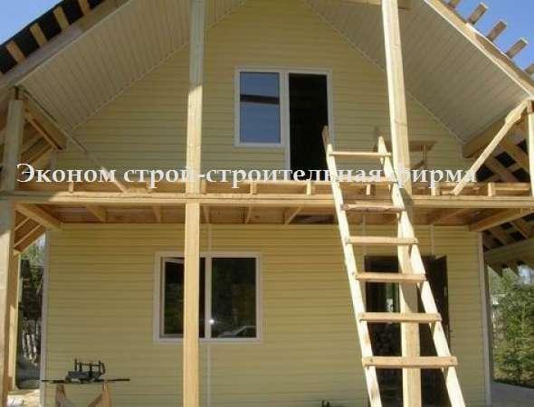 Каркасные дома строим под ключ, на фото построенный каркасны.